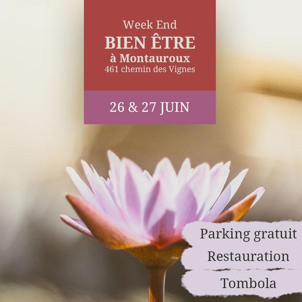 week end bien-être les 26 et 27 juin 2021 à la cabane d'ÂME à Monteauroux (83-