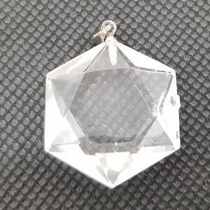 Pendentif Sceau de Salomon en cristal de roche