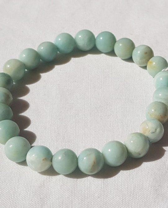 bracelet en perles d'amazonite