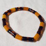 bracelet en perles cylindriques en Ambre