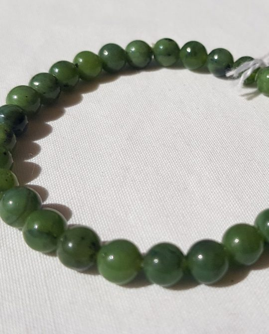 bracelet en aventurine verte perles rondes
