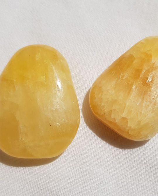 pendentifs gouttes en calcite orange