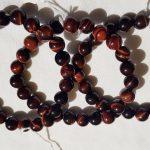 bracelets en perles en oeil de taureau