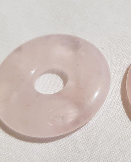 pendentif pi en quartz rose