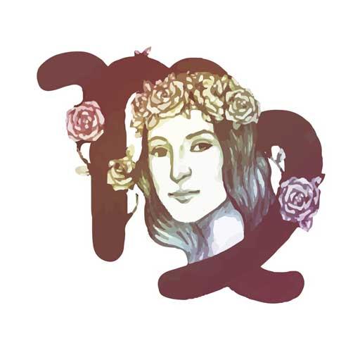 illustration signe astrologie vierge